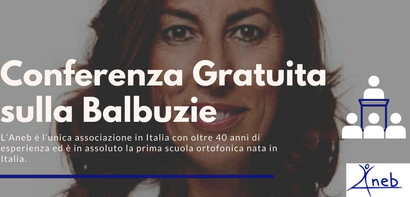 Conferenza Gratuita sulla Balbuzie! L'Aneb è l'unica associazione in Italia con oltre 40 anni di esperienza ed è in assoluto la prima scuola ortofonica nata in Italia.